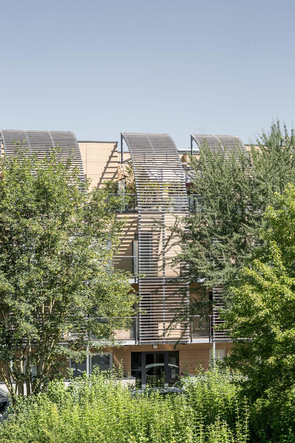 photographie d'architecture d'un immeuble d'habitations à Troyes