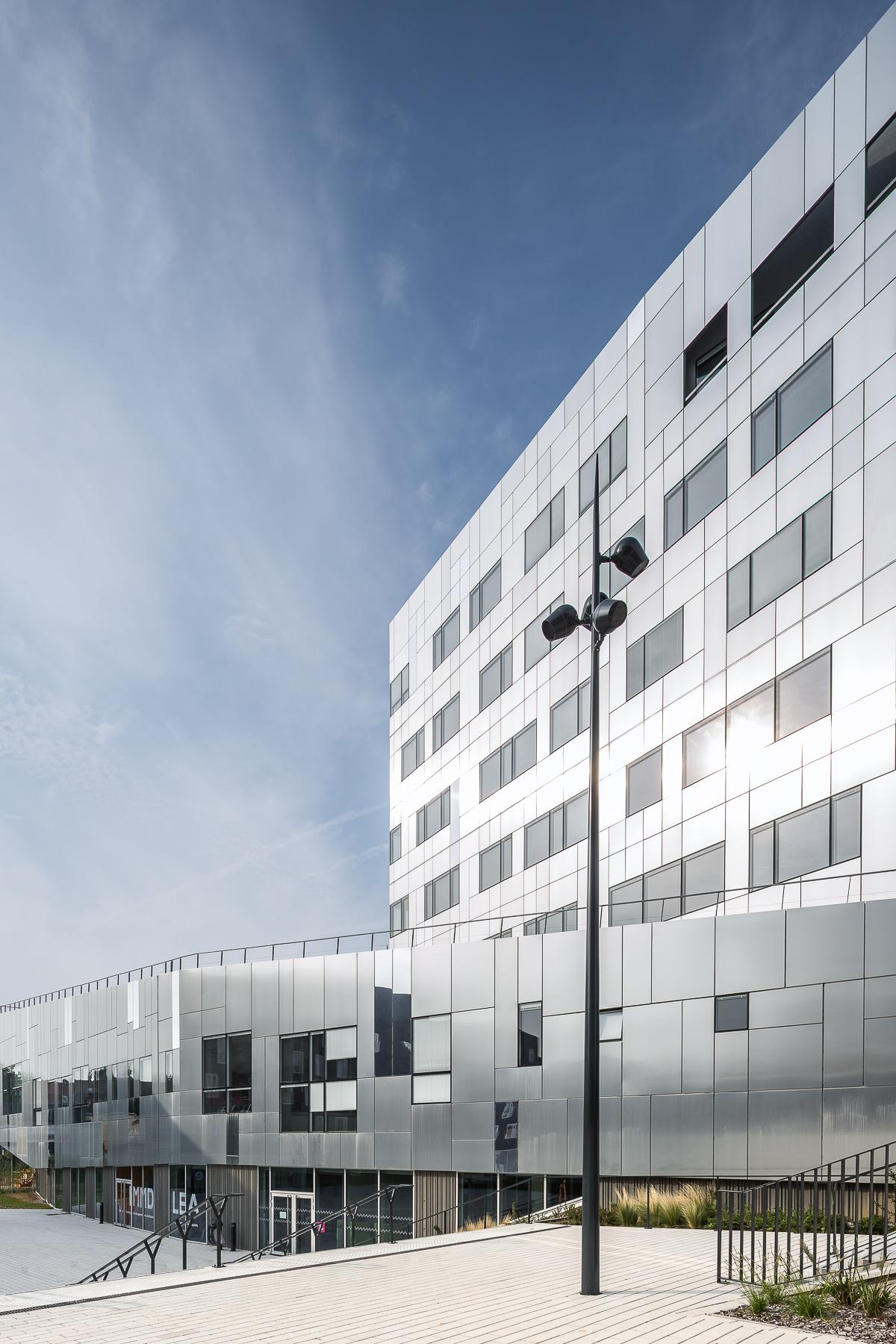 photographie d'architecture d'un site universitaire à Lille