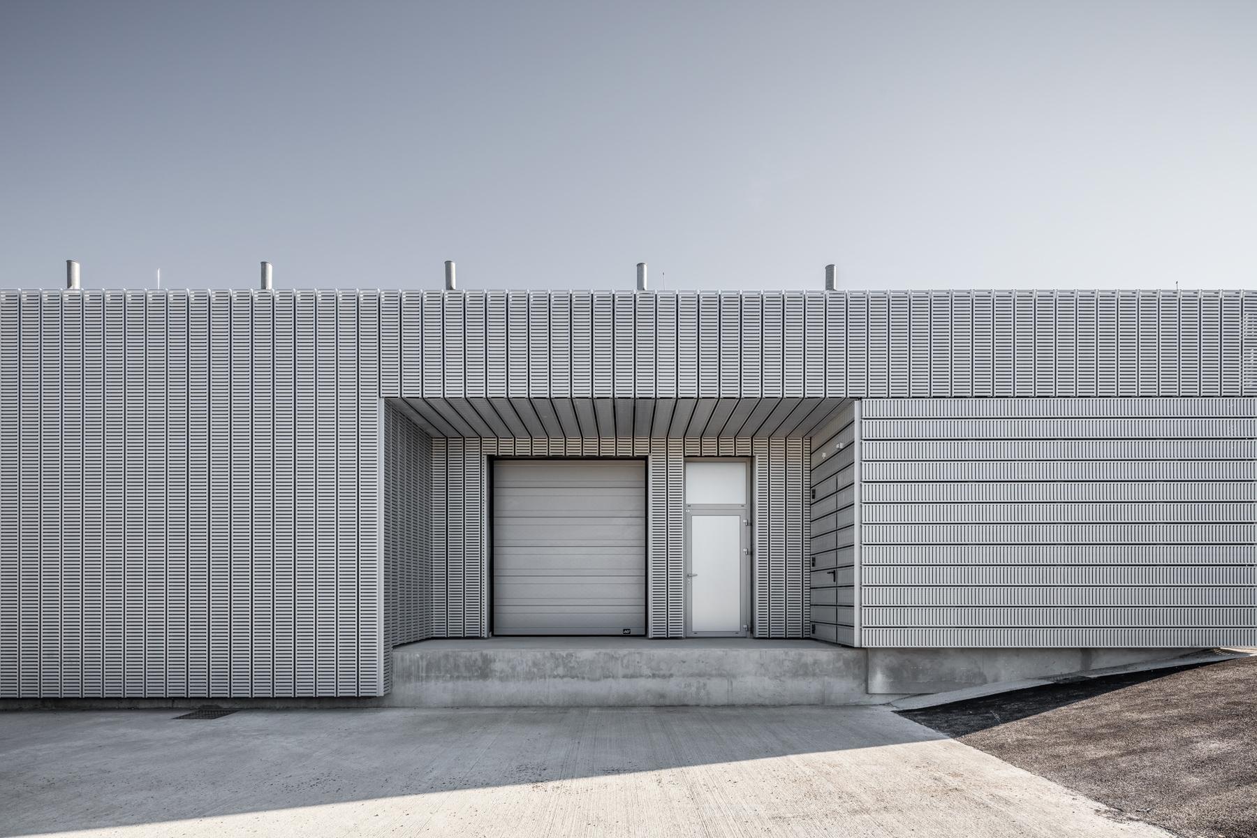 photographie d'architecture d'un site industriel dans l'Aube