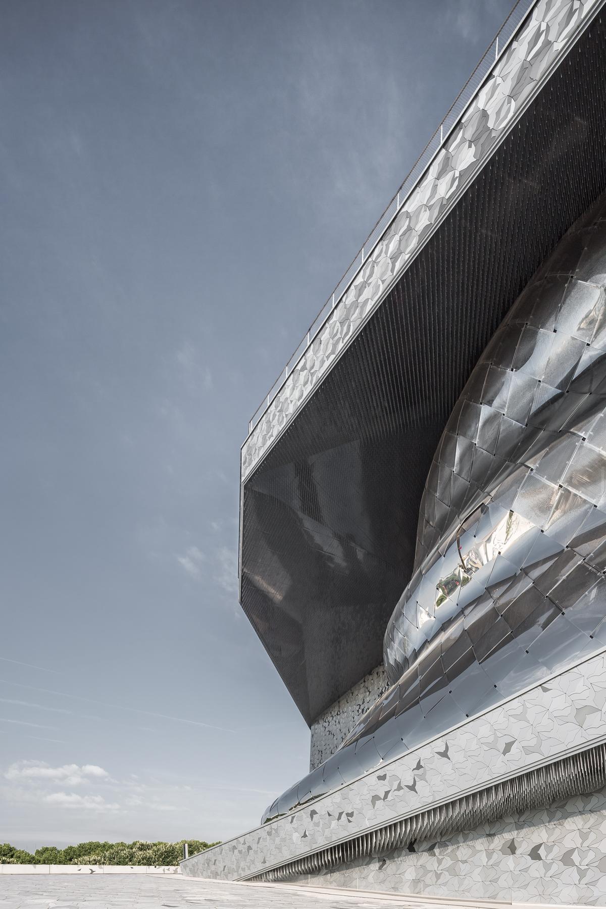 photographie d'architecture du philarmonie de Paris