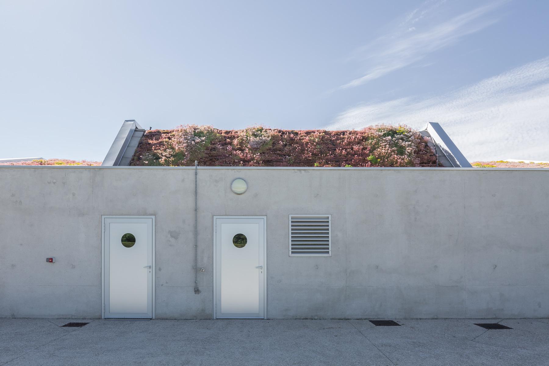 photographie d'architecture d'une salle des fêtes dans l'Aube