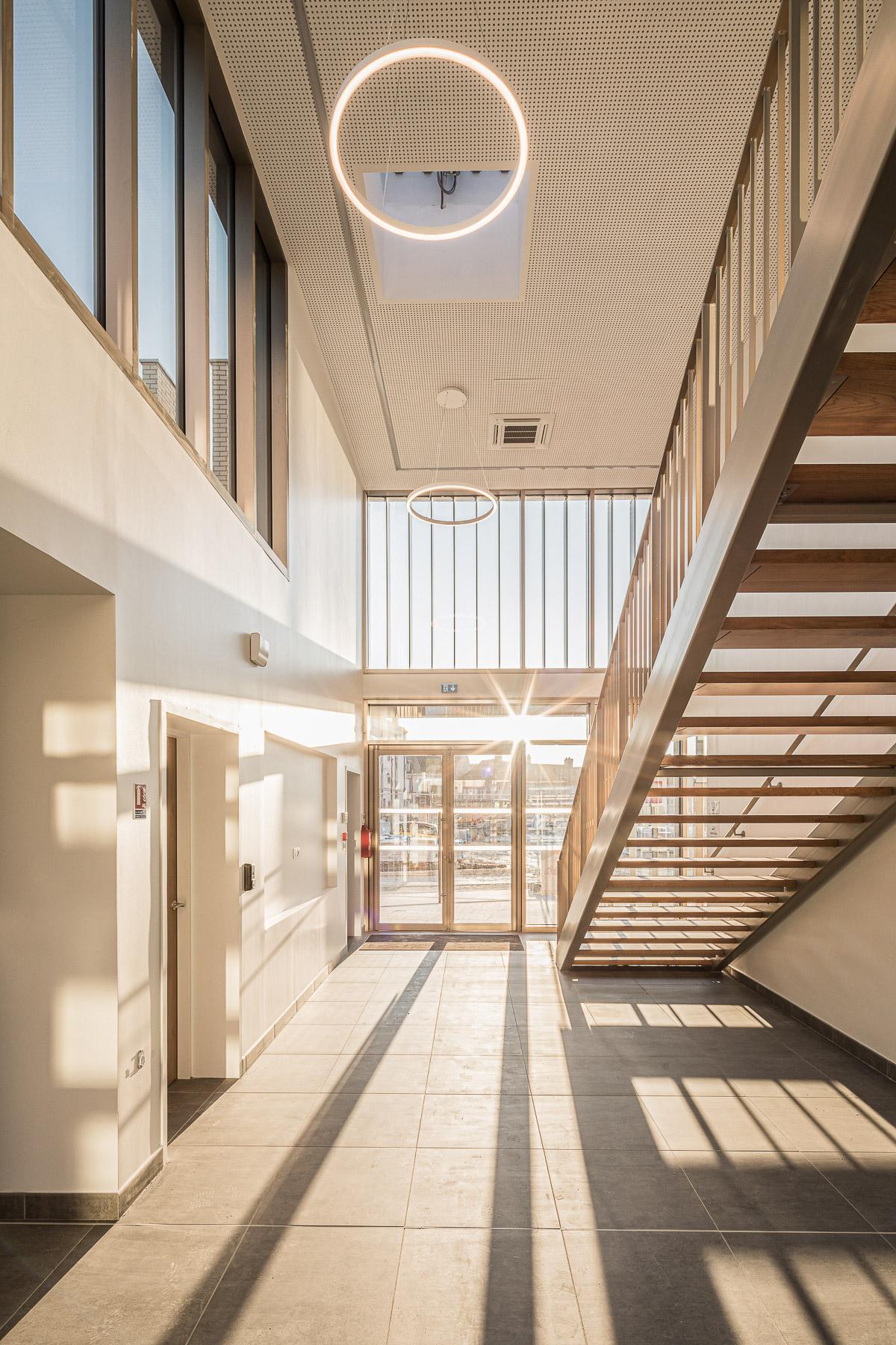 photographie d'architecture d'une maison des associations dans l'Aube