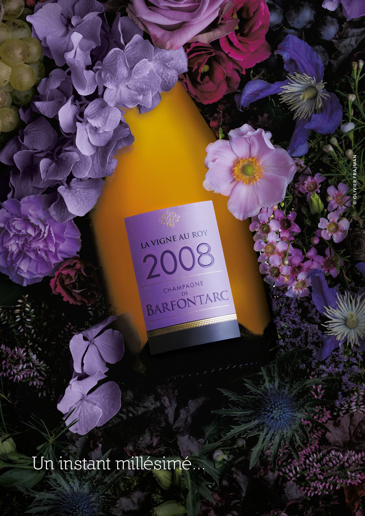 Photographie publicitaire d'une bouteille de champagne